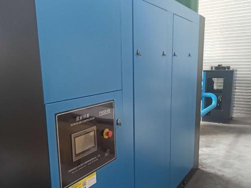 132kW优耐特斯两级压缩空压机安装调试完成!