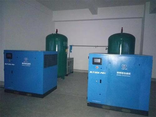 烟台某金属加工制造公司采购睿寂行永磁变频空压机