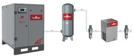 熔喷布机用空压机安装流程图