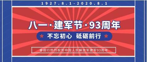 睿寂行空压机热烈祝贺中国人民解放军建军93周年
