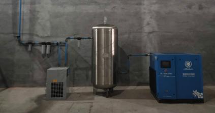 油冷永磁变频空压机安装完成